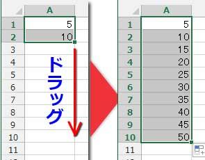 数字オートフィルの応用例