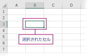 Excelの選択されたセル