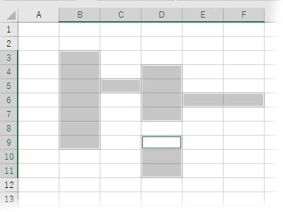 イレギュラーな位置の複数のセルを選択範囲に含める