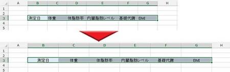 列幅の変更サンプル