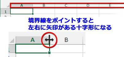 アルファベット列と境界線を示すポインタ