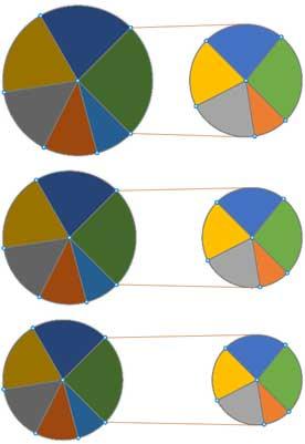 要素の間隔で50%、100%、150%設定