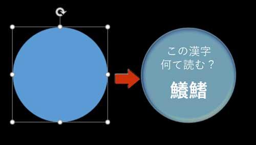 円型にテキストを入力して書式設定