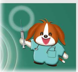 ロゴの代用の犬のイラスト