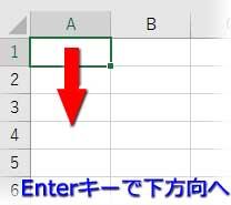 Enterキーで下方向へセル移動