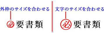 囲み文字の作成サンプル