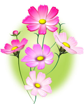 アート効果を設定する花のイラスト