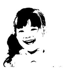 白黒2階調の画像
