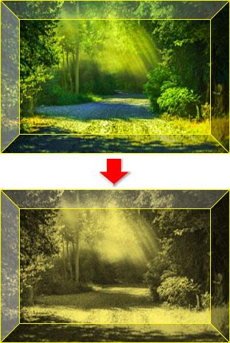 色の変更・アート効果を適用した図で塗りつぶした図形