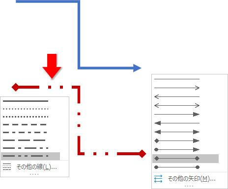 図形の枠線の修正例